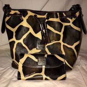 DOONEY & BOURKE giraffe print wallet and handbag